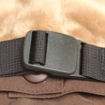 Adjustable Nylon belt is removable (not sewn-in).